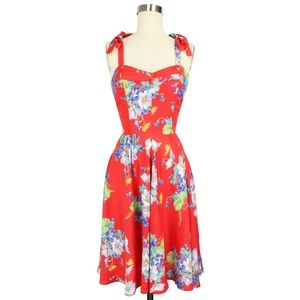 Trashy Diva Red Butterflies & Begonias Dress